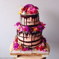 Grown-up cakes: Katherine customises her cakes for whoever she is making them for...