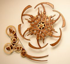 Kinetic Sculpture by David C. Roy - All Sculptures | Wood That Works | Kinetic Art - Variation Zen