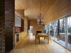 Knut Hjeltnes Arkitekter | w09_bjer Fiber Cement Board, Log Homes, Flooring, Interior Design, Architecture, Table, Furniture, Home Decor, Kitchen