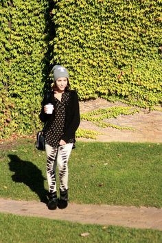 Tenacious T ~ wearing Topshop beanie, H&M cardigan and shirt, James Jeans twiggy jeans & aldo booties #talitasays #fall