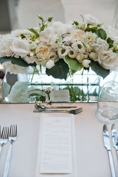 Classic white wedding table: http://www.stylemepretty.com/canada-weddings/ontario/toronto/2014/10/07/modern-elegant-wedding-in-toronto/ | Photography: Boyfriend/Girlfriend - http://boyfriendgirlfriendpictures.com/