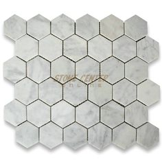 Carrara White 2 inch Hexagon Mosaic Tile Honed (one of Studio McGee's most frequently used tiles)
