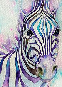 Zebras Painting - Turquoise Stripes Zebra by Arti Chauhan