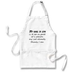 $19.95 #Funny #cat #aprons http://www.zazzle.com/funny_aprons_bulk_discount_unique_fun_gift_ideas-154038247855513751?gl=Wise_Crack=238222133794334761