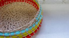 maker:  	Vicki Fowler product:	woven baskets  material:	fabric and raffia 		handmade in Melbourne