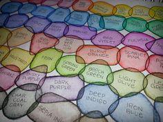 Derwent Inktense color chart