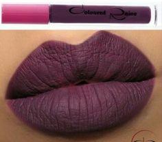 dark purple rich lips