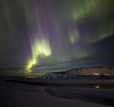 Northern lights near Vik. - Northern lights near Vik. Bright Lights, Aurora Borealis, Iceland, Northern Lights, Nature, Travel, Ice Land, Naturaleza, Viajes
