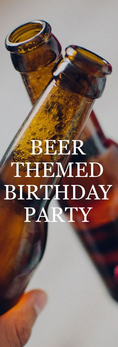 Throw a beer themed party for the beer lover in your life. Party Throw a beer themed birthday for the craft beer lover in your life! 50th Birthday Party Ideas For Men, Beer Birthday Party, 30th Party, 30th Birthday Parties, Man Birthday, Birthday Party Themes, 50th Birthday Banners, Surprise Birthday, Husband Birthday