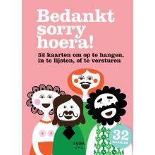 Bedankt Sorry Hoera Kaartenboekje