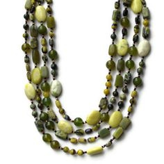 Luxurious Extra Long Multi Strand Avocado Green by ALFAdesigns, $129.99