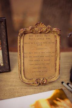 Vintage Wedding Sign @Mandy French