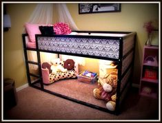"""Ikea Kura bed hack including the """"how-to"""" refashion (modge podge and scrapbook paper!)"""