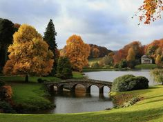 Stourhead landscape garden in Wiltshire, Britain is enjoying one of the best Autumn displays in years. This is due, in part, to a long, dry Spring and a wet, cool Summer. What a spectacular shot.