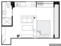 Примеры планировки однокомнатной квартиры студии и хрущевки, фото идеи перепланировки квартир