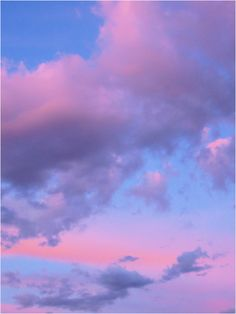 Cotton Candy Clouds - while I don't care for the edible cotton candy, I LOVE clouds like this!