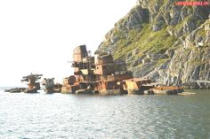 "Soviet ""Sverdlov"" class Light Cruiser Murmansk aground in Norwegian waters."