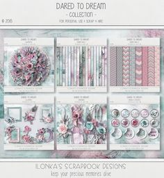 Dared To Dream Collection by Ilonkas Scrapbook Designs