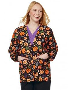 scrubs peaches 100 cotton fright night anna scrub top halloween nursing srubs medical uniforms halloween hoopla pinterest nursing tops and - Halloween Scrubs Uniforms