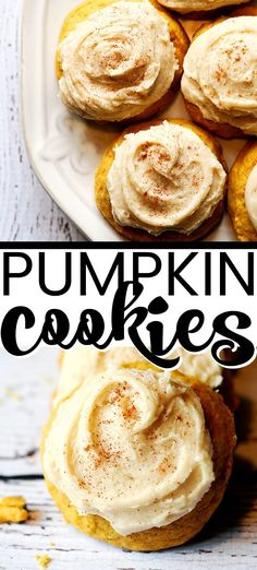 Best pumpkin cookies ever! I've been making these melt-in-your-mouth pumpkin cookies every fall for about 5 years. These soft pumpkin cookies with frosting are AMAZING. Soft Pumpkin Cookies, Pumpkin Cookie Recipe, Pumpkin Dessert, Pumpkin Recipes, Fall Recipes, Pumpkin Spice, Trifle Desserts, Great Desserts, Delicious Desserts