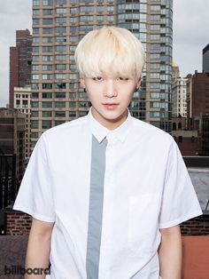 BTS photographed on July 15, 2015 at Billboard's Chelsea, New York studio | SUGA