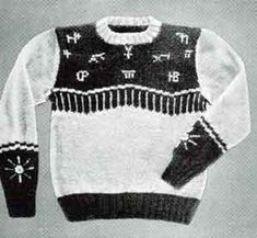 Cattle Brands Sweater, Size 8 | Knitting Patterns