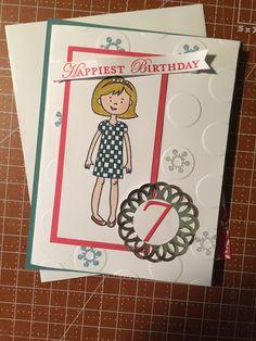 Stampin Up Stylin Girl Birthday Card