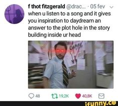this is what happened when I was writing my story called Sorry, it's not very good but getting there Writing A Book, Writing Tips, Writing Prompts, Writer Memes, Book Memes, Maladaptive Daydreaming, Def Not, Stupid Funny, Hilarious
