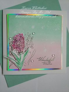 Stamps By Me Wonderful Wishes stamp set #stampsbyme #wonderfulwishes #flowers #distressinks #heatembossing #stamping #stamps #cardmaking #cards #handmade #craft