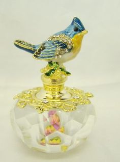 Blue Bird oh so lovely PERFUME Bottle is a perfect way to store your expensive perfumes.  $51.95