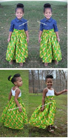Beautiful Little Girl's Ankara Styles For Kids, African Dresses For Kids, African Children, Latest African Fashion Dresses, African Print Fashion, African Wear, African Attire, Girls Dresses, African Clothes