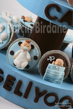 Baby Shower Cupcake by burcinbirdane, via Flickr