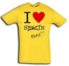 "T-Shirt men ""Mama Berlin"" - FREIE FARBAUSWAHL von MAD IN BERLIN auf DaWanda.com"