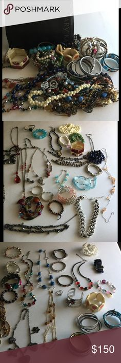 Make Offer! Huge Jewelry Bundle + Organizer Wow! Huge Jewelry Bundle! 59 Items. Includes Mary Kay Jewelry Organizer. 20 Necklaces. 36 Bracelets. 1 watch (needs battery). 1 bow ring. Most bought from Kohls & charming Charlie type stores. Gift each item individually or keep it all for your self! Make me an offer I can't refuse! Jewelry
