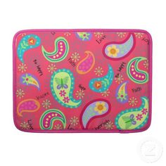 Red Paisley MacBook Pro Personalized Sleeve Sleeve For MacBook Pro  #macbook #paisley