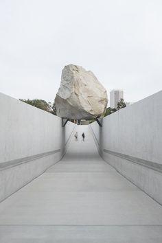 Levitated Mass by Michael Heizer, LACMA.