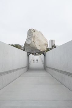 Levitated Mass by Michael Heizer, LACMA.