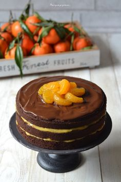 Layer cake chocolat & crème de clémentines. - Pourquoi je grossis