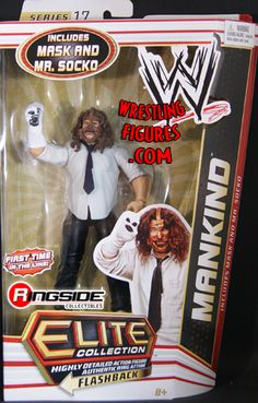 RINGSIDE COLLECTIBLES WWE Toys, Wrestling Action Figures, Jakks Pacific, Classic Superstars Action F: MANKINDELITE 17BACK-ORDEREARLY-OCTOBER