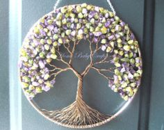 Lilac Tree Wire Tree of Life Wall Hanging decor - diy tree crafts, wall decor - Lovely tree of life quilted wall hanging you should know by yahone Tree Of Life Jewelry, Tree Of Life Pendant, Tree Crafts, Diy And Crafts, Lilac Tree, Wire Trees, Metal Tree, Wire Art, Tree Wall