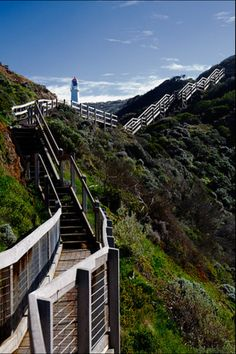 ❥  Cape Schanck Lighthouse, Melbourne Beacon Of Light, Light In The Dark, 7 Continents, Water Tower, Victoria Australia, Light House, Stairways, Road Trips, Nautical