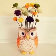 Owl arrangement- SOLD