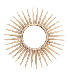 Brass Sunburst Round Decorative Mirror