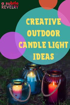 These creative outdoor candle light ideas by A Subtle Revelry will brighten up your evenings. Whether you are looking for ways to make your wedding venue unique, or DIY outdoor dinner table settings, this post will help you out. Have a look now for more information. #outdoorcandlelightideas #candleideas #outdoorvenueideas #candlelight