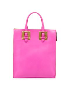 Sophie Hulme - Soft Buckled Zip Tote Bag, Hot Pink