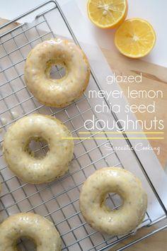 Baked Glazed Meyer Lemon Chia Seed Doughnuts   Sarcastic Cooking