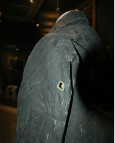 Stonewall Jackson's raincoat at the Virginia Military Institute Museum, Lexington VA. With this one shot American died, for without Jackson the South, and America, was lost.
