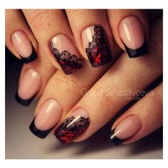 Lace is a classic design element in modern fashion. Today we are here to share and discuss the concept of lace nail art design. Today, lace nail art design is very popular. Many women are fascinated by complex and detailed fabric patterns. Lace Nail Design, Lace Nail Art, Lace Nails, Red Nails, Nails Design, Red Black Nails, Glitter Nails, Red Design, Red Glitter