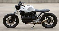 This custom BMW is as beautiful as it is homesick Custom Street Bikes, Custom Bikes, K100 Scrambler, Bmw Old, Bmw Motorbikes, Custom Bmw, Bmw K100, Cafe Racing, Bmw Cafe Racer