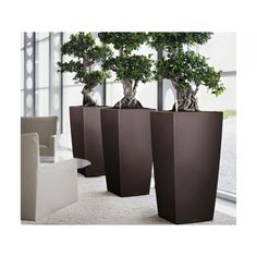 The Lechuza Cubico combines function with design. This self-watering planter makes maintaining flowers and plants effortless. The attractive column shape of the Lechuza Cubico is the perfect accent for any indoor plantscaping design. Available at ModernKasa.com